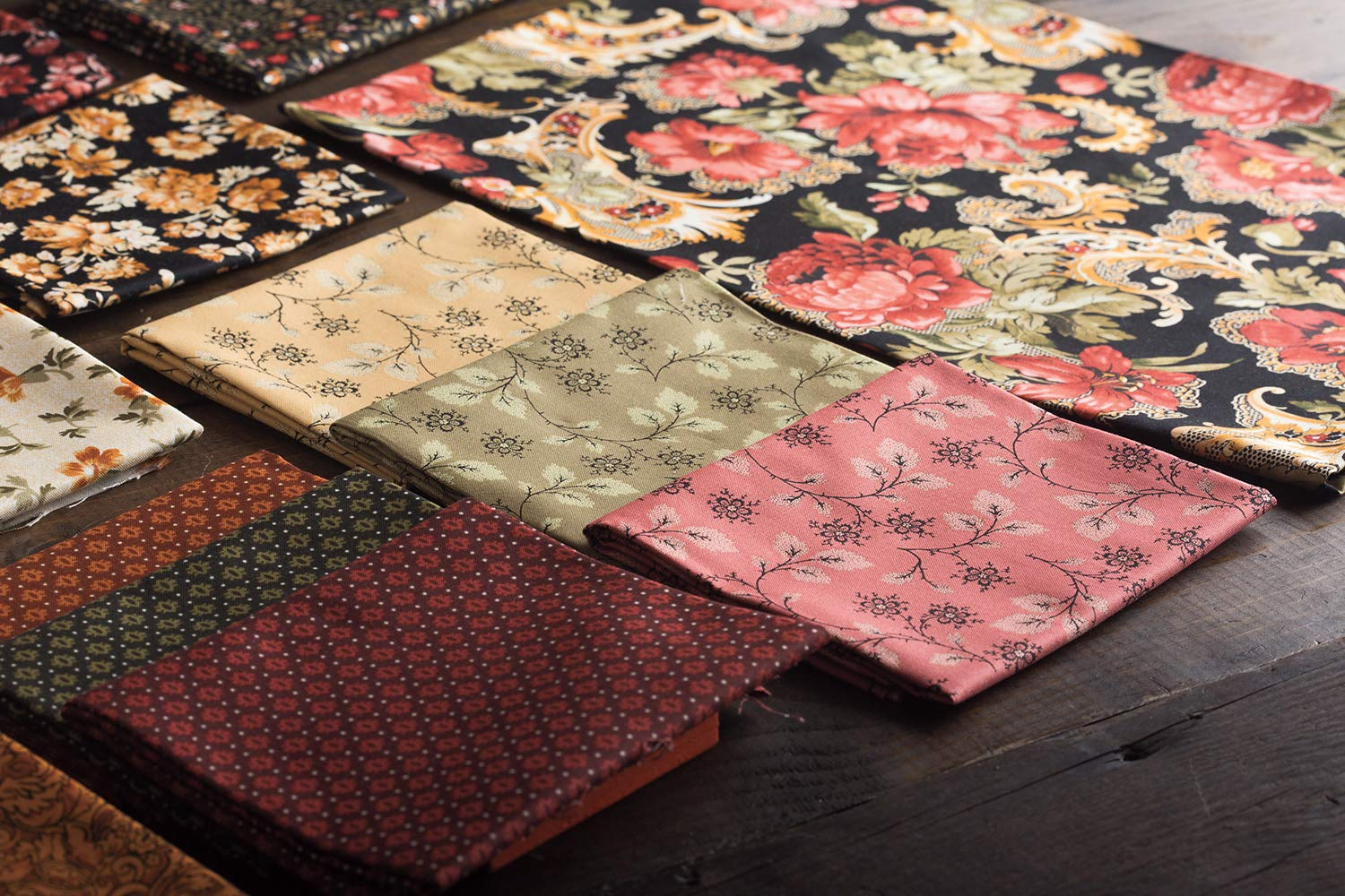 Connecting Threads Print Collection Precut Quilting Fabric Bundle (Fleurs Dorées - Fat Quarters) by Connecting Threads (Image #6)