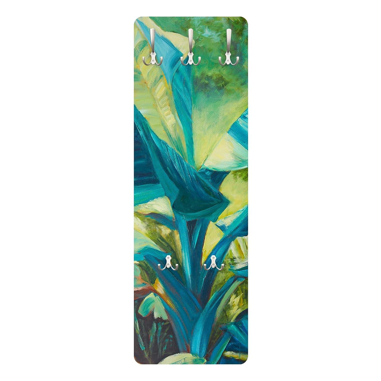 Bilderwelten Perchero Panel Mural Gancho De Pared Banana Leaf with Turquoise II 139 x 46cm