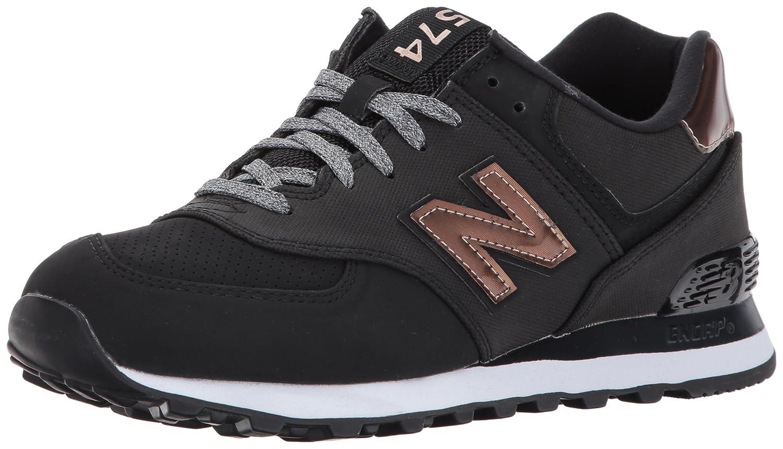 New Balance Women's 574v1 Varsity Sport Sneaker B01N77XPIQ 5 D US|Black/Metallic Bronze