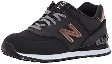 sports shoes 400f1 3c55f New Balance Women s 574V1 Varsity Sport Sneaker, Black Metallic Bronze, ...