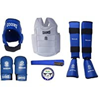Kai Approved Goodwin Karate Safety Kit - Pack of - Head Guard, Chest Guard, Shin Guard, Hand Gloves, Belts and Mouth Guard