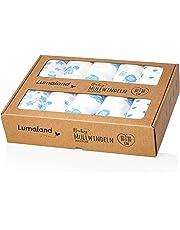 Lumaland mussola, garze per bambini, 80x80cm 100% cotone senza agenti chimici nocivi