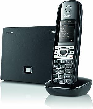 Gigaset C610 IP - Teléfono (Teléfono DECT, 150 entradas, Identificador de Llamadas, Negro, Gris): Amazon.es: Electrónica