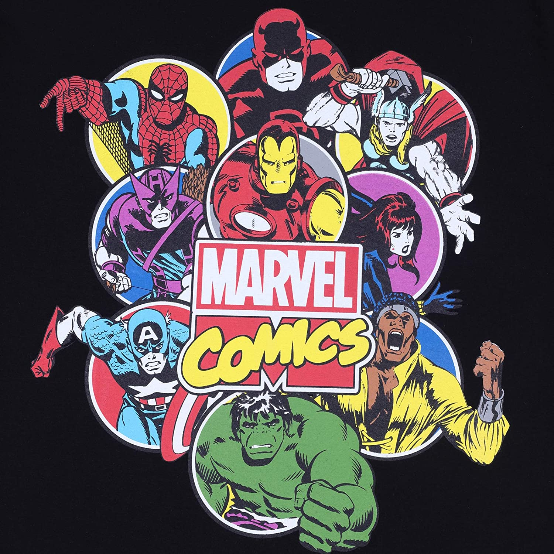 Spiderman und Iron Man mit Hulk Herren Schlafanzug Marvel Comics kurz Offizielles Merchandise
