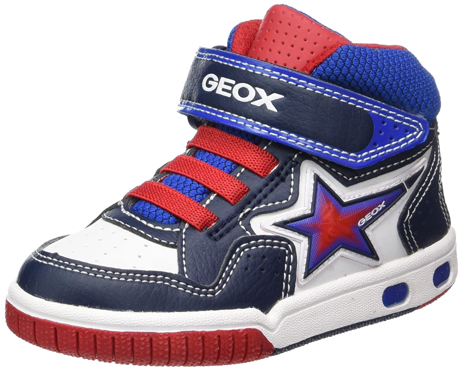 half off great quality fresh styles Geox Boys' Jr Gregg a Hi-Top Trainers, Blue