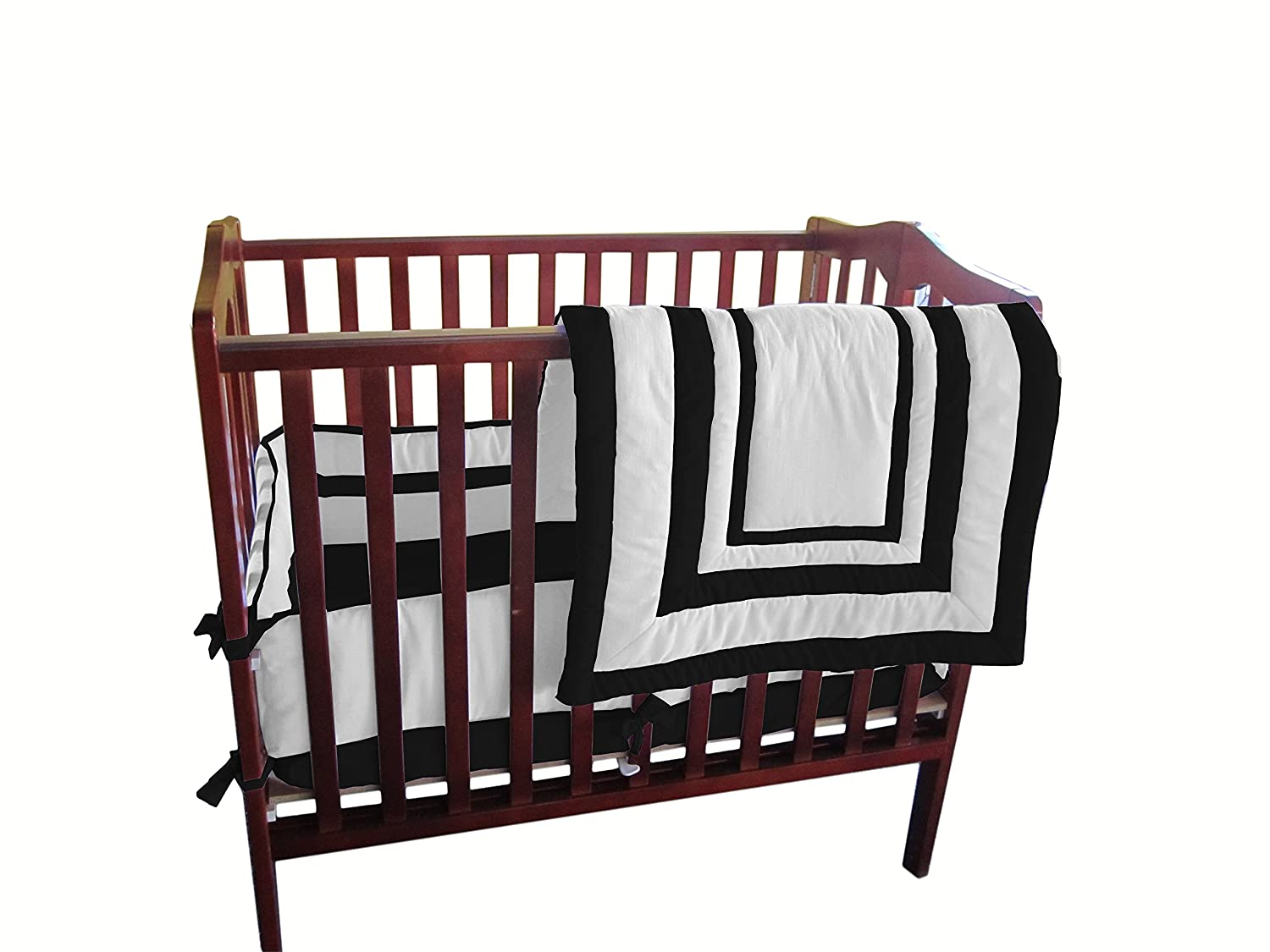 Baby Doll Bedding Modern Hotel Style Mini Crib//Port-a-Crib Bedding Set Grey 1250pac