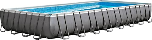 Intex-32ft-X-16ft-X-52in-Ultra-Frame-Rectangular-Pool-Set-with-Sand-Filter-Pump,-Ladder,-Ground-Cloth-and-Pool-Cover