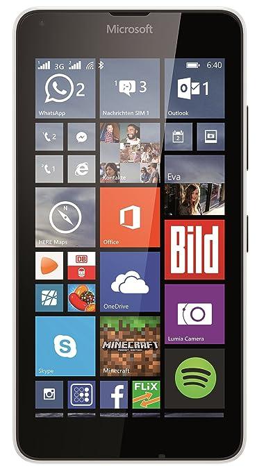 Microsoft Lumia 640 Dual-Sim Smartphone (5 Zoll (12,7 cm) Touch-Display, 8 GB Speicher, Windows 10) weiß