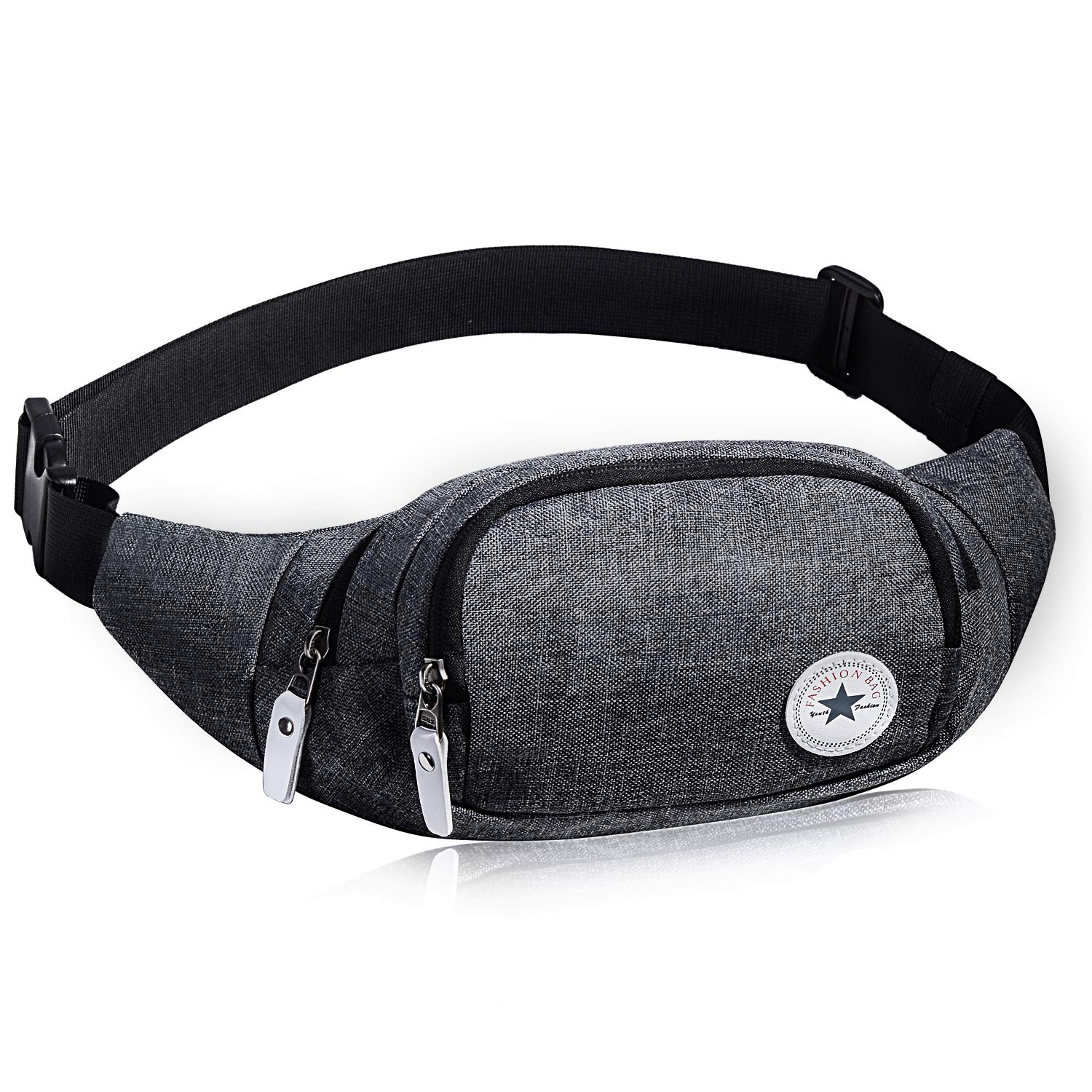 Evaduol Multifunctional Bumbags, High-Capacity Fashion Fanny Packs, Adjustable Blet Waist Bag, Grey.