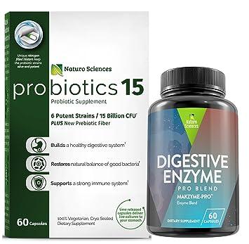 Amazon.com: Saludable estómago Combo – Probióticos 15 Plus ...