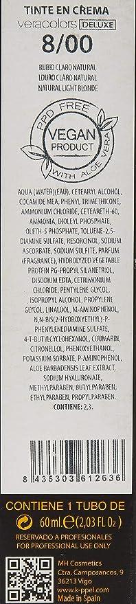 MH Cosmetics VeraColors Deluxe Tinte Capilar Premium Vegano 8 ...