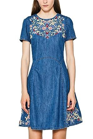 087cc1e013, Robe Femme, Bleu (Blue Medium Wash 902), SmallEDC by Esprit