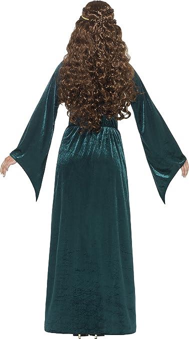 Smiffy s - Disfraz de Mujer de Doncella Medieval, Vestido y Diadema, Tales of Old England, Muy Divertido, Talla 36-38, 45497: Amazon.es: Juguetes y juegos