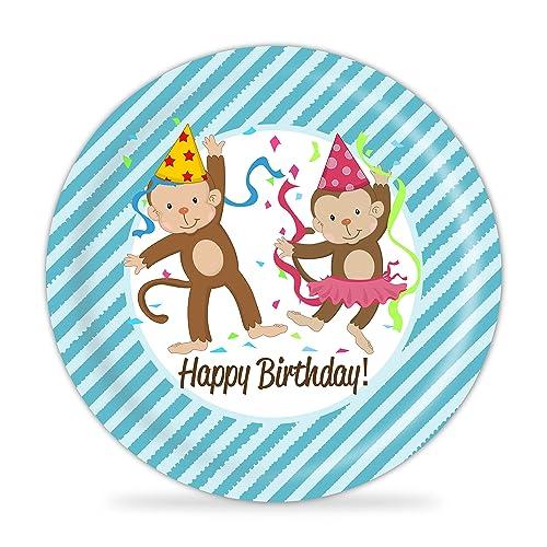 Monkey Plate - Blue Party Monkey Melamine Personalized Plate  sc 1 st  Amazon.com & Amazon.com: Monkey Plate - Blue Party Monkey Melamine Personalized ...