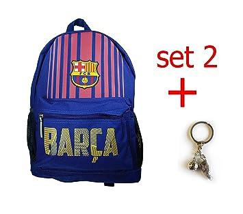 Amazon.com: FC Barcelona Mochila escolar Mochila Bolso ...