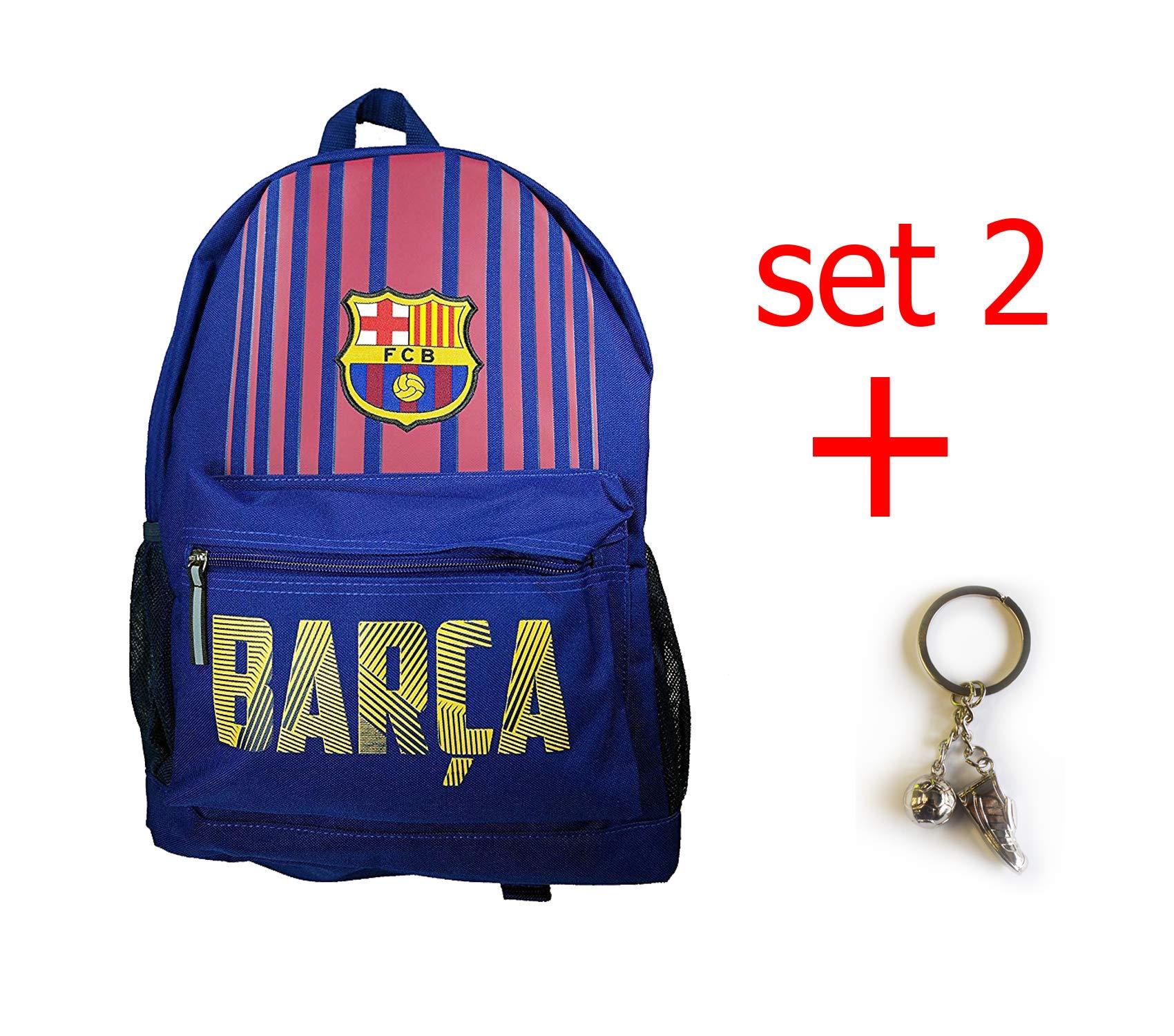 FC Barcelona backpack school mochila bookbag cinch shoe bag official (new Barca set) by F.C. Barcelona (Image #1)