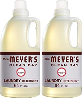 product image for Mrs. Meyer's Clean Day Liquid Laundry Detergent, Cruelty Free and Biodegradable Formula, Lavender Scent, 64 oz- Pack of 2