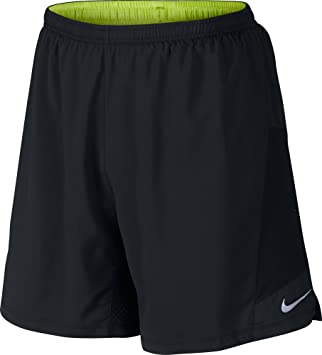 half off 84330 68886 Nike Short Homme Pursuit 2–en - 1 XL Noir - NoirJaune Fluo