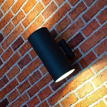 Xl Updown Wand Außenleuchte Hamburg In Anthrazit 107mm Durchmesser 2x E27 230v Wandlampe Für Die Hauswand