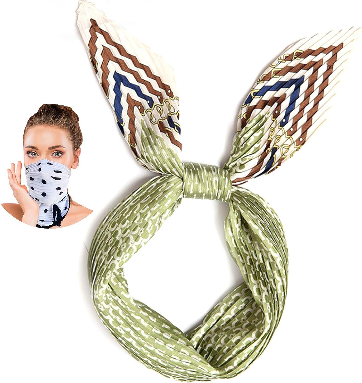 Silky Bandanas for Women, Face Coverings Bandana, Fashion Scarf Face Mask Reusable for Women