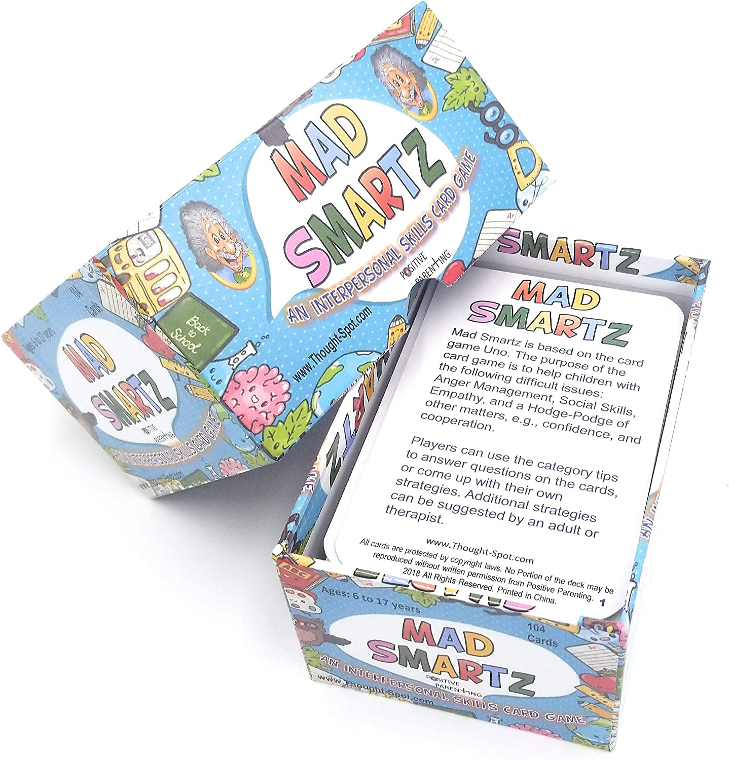 Empathy and Social Skills; Top Educational Learning Resource for Kids /& Adults; Fun for School and Therapy; 117 Cards MAD SMARTZ An Interpersonal Skills Card Game for Anger /& Emotion Management