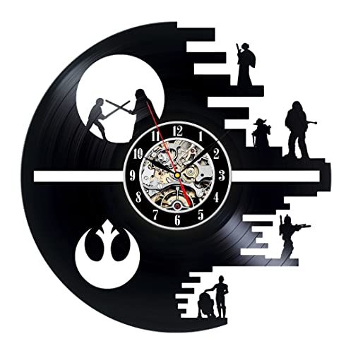 Gullei.com Decorative Vinyl Record Wall Clock Gift Star Wars Design