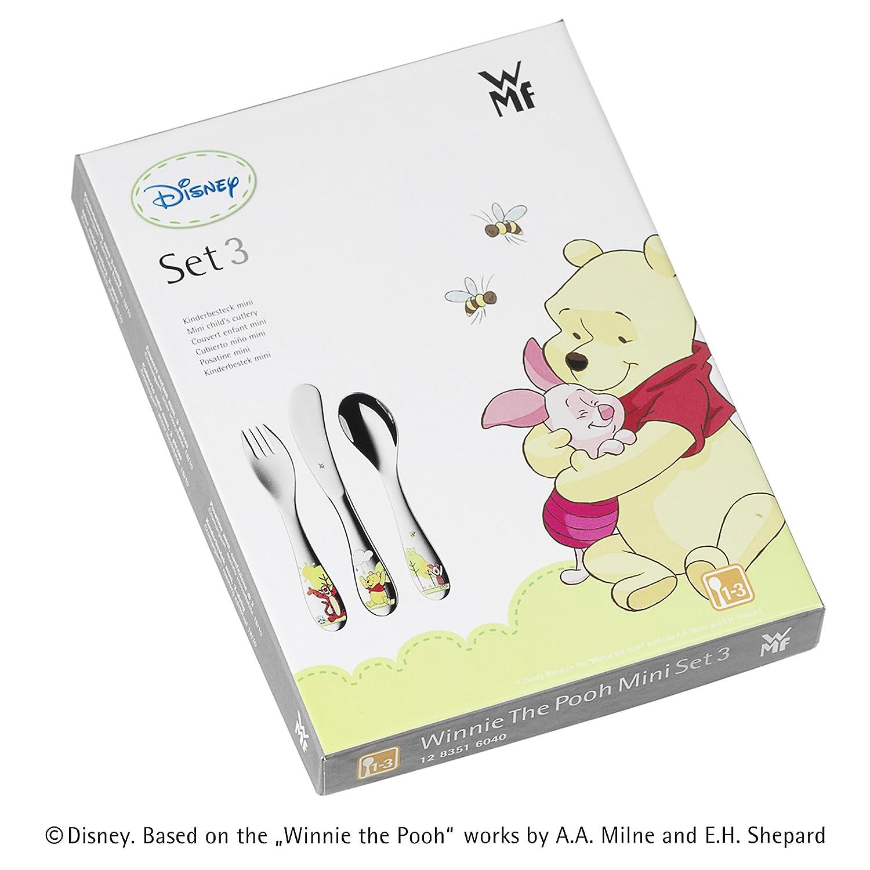 Posate per bambini mini WMF RG Winnie the Pooh colore argento taglia 1-3 anni 3 pezzi