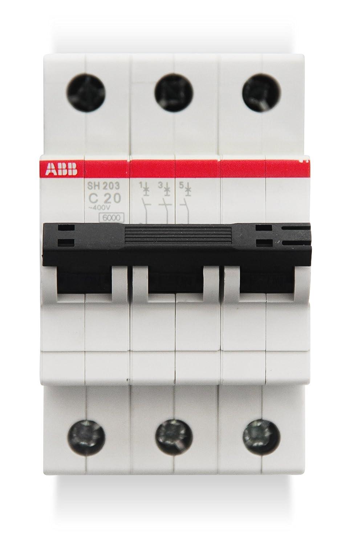 ABB-entrelec SH200 –  Leitungsschutzschalter sh203-c20 3-polig 20 A Curva C 6 kA