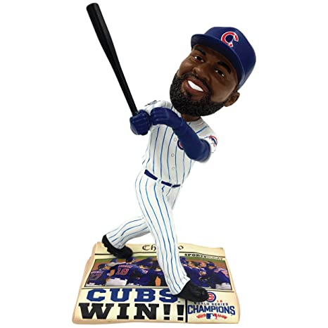 b43f616e1f8 Image Unavailable. Image not available for. Color  Forever Collectibles Chicago  Cubs Jason Heyward 2016 World Series Champions Newspaper Bobblehead