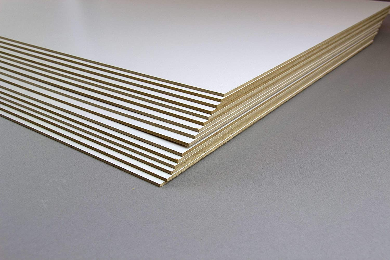 Teuto-Bilderrahmen 10 Stck 20 x 20 cm MDF Platten 2,5 mm stark dick Holz Bastelmaterial M/öbel Mitteldichte Holz Faserplatten Brett