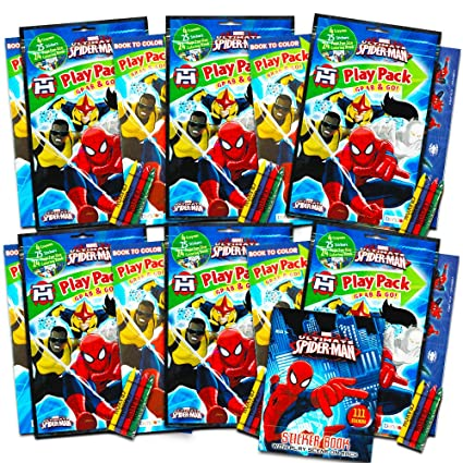 Amazon Com Marvel Spiderman Ultimate Party Favors Packs