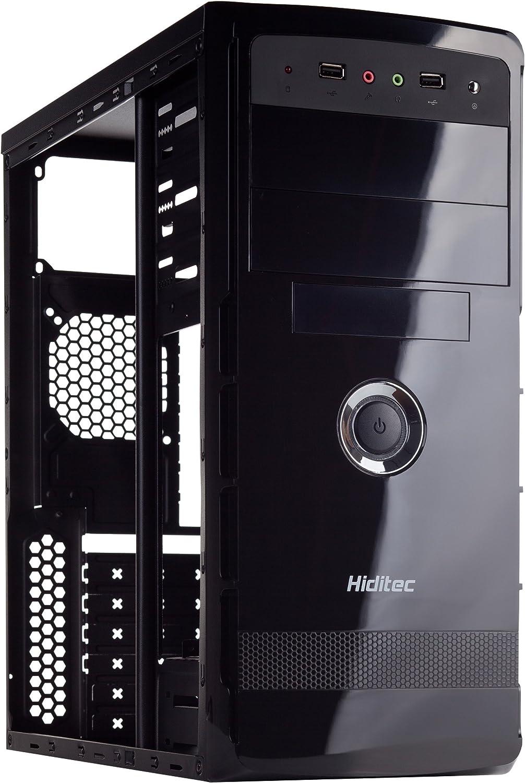 Hiditec Karma PSU500 (Micro ATX, ATX, 2 x USB 2.0, Estructura Acero y ABS, Fuente incluida de 500W con Ventilador de 120mm) color negro: Hiditec: Amazon.es: Informática