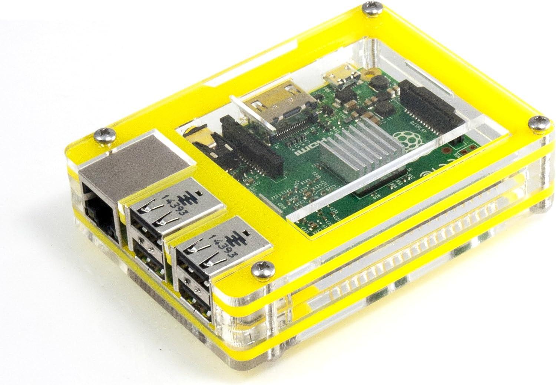Raspberry Pi 3 Tropical Yellow Pi 2 and B+ Zebra Case