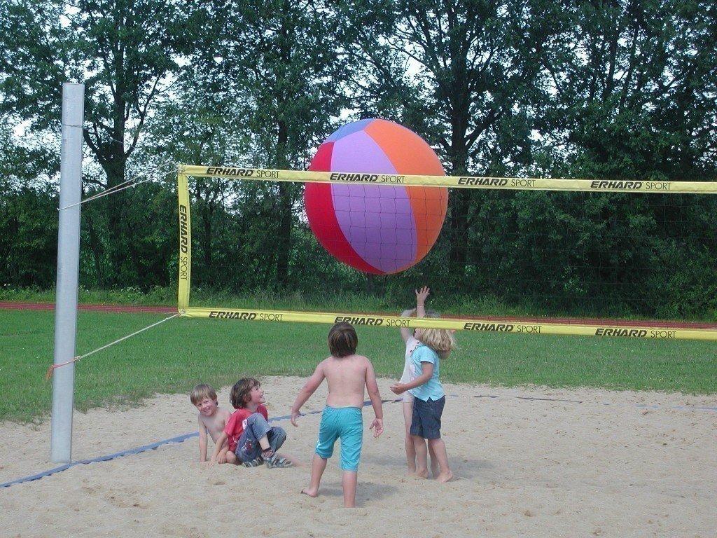 XXL-Luftmatz / bunter Riesen-Luftmatzball / Durchmesser: ca. 1m / Inhalt: Luftballon-Jeans-Baumwollhülle inkl. Luftballon