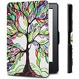 Capa para Kindle Básico da 8a geração - Rígida - Fecho Magnético - Hibernação - Estampada (Árvore da Vida)