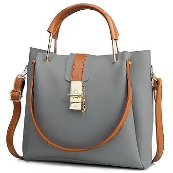 21b19f65704df MINICE Damen Einkaufstasche Handtasche Leder Fashion Design Tasche  Schultertasche PU Umhängetasche