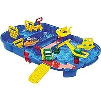 Aquaplay 1516 - Slotenbox, makkelijk afsluitbaar, 25-delig, 85x65 cm, blauw, vanaf 3 jaar