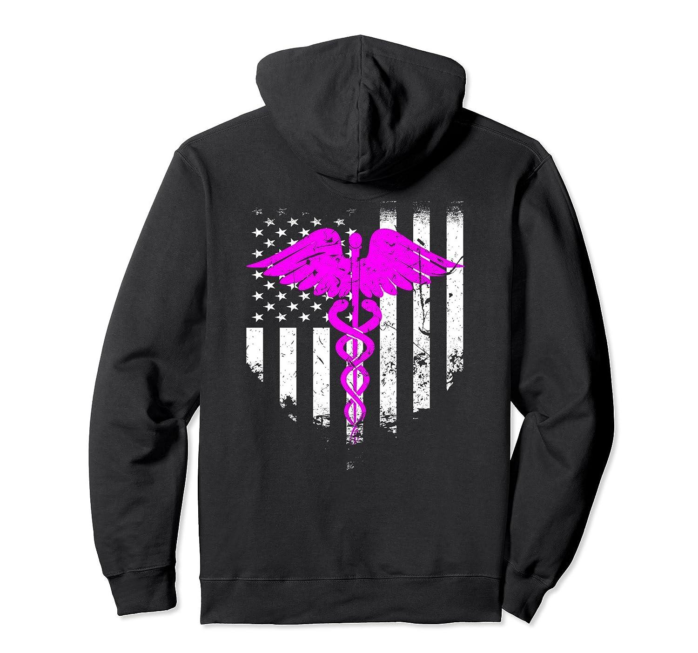 American Flag Nurse Cool Hoodie Best Gift For Nurses-Awarplus
