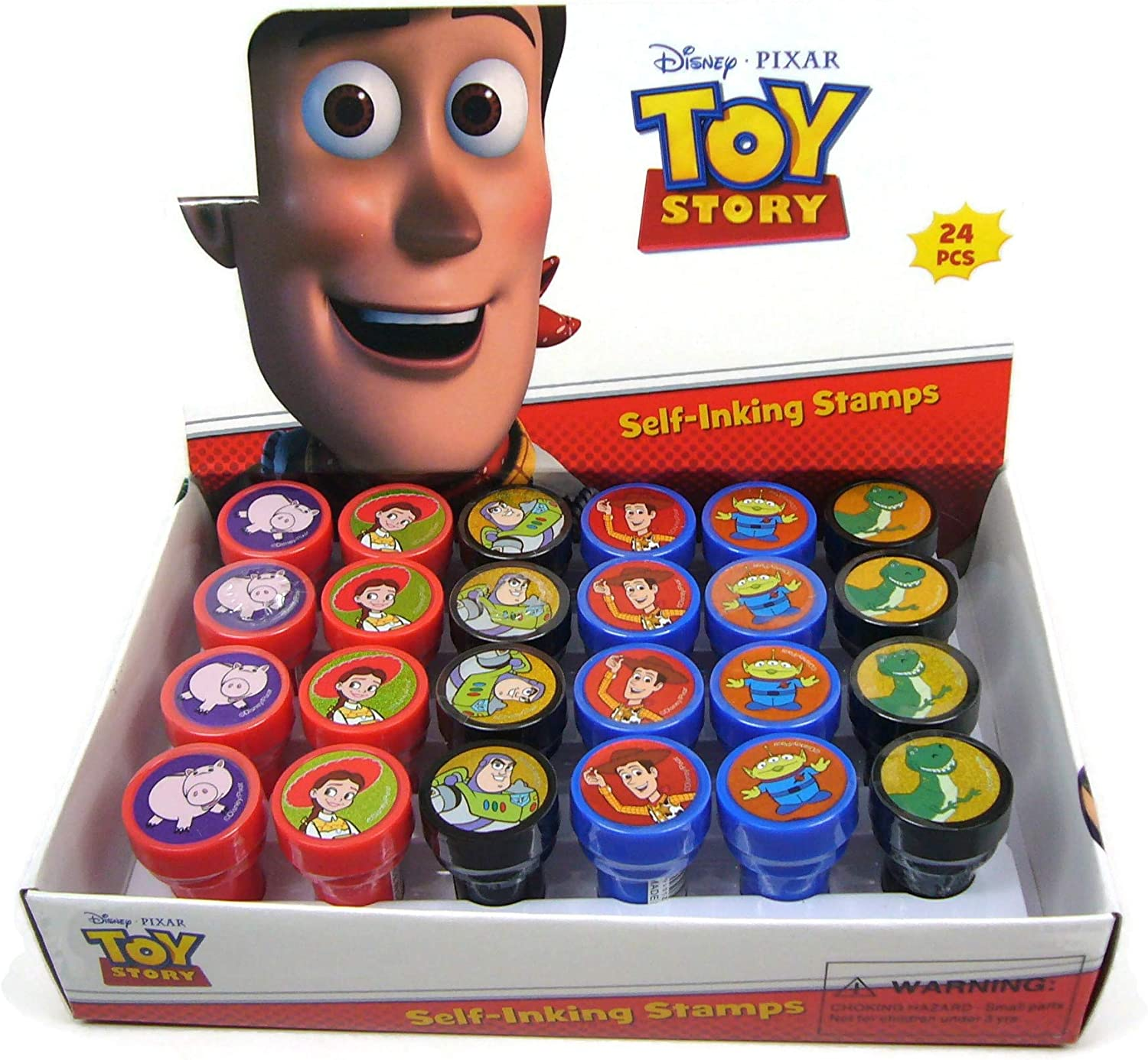Complete Box Disney Toy Story Self-inking Stamps Birthday Party Favors 24 Pieces