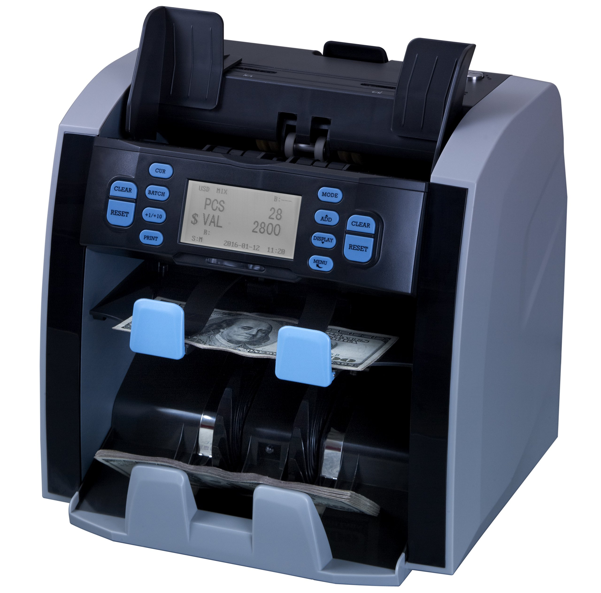 CARNATION Bank Grade Mixed Denomination Bill Counter and Sorter CR1500 with Currency Sorting Serial Number Recognition PC Conectivity and Printing Capability 2 Year Warranty