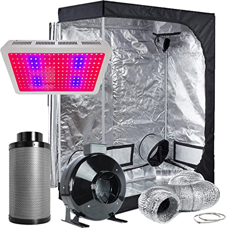 TopoLite Grow Tent Room Complete Kit Hydroponic Growing System LED 600W Grow Light + 6u0026quot; & Amazon.com : TopoLite Grow Tent Room Complete Kit Hydroponic ...