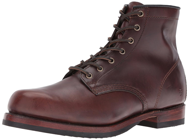 Dark Brown Frye Men's John Addison Lace-Up Combat Boot