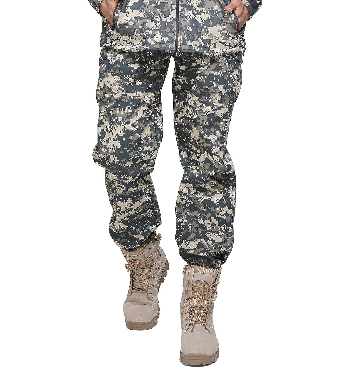 Magcomsen Men's Waterproof Fleece Lining Camouflage Soft Shell Tactical Pants MAGCOMSEN-05