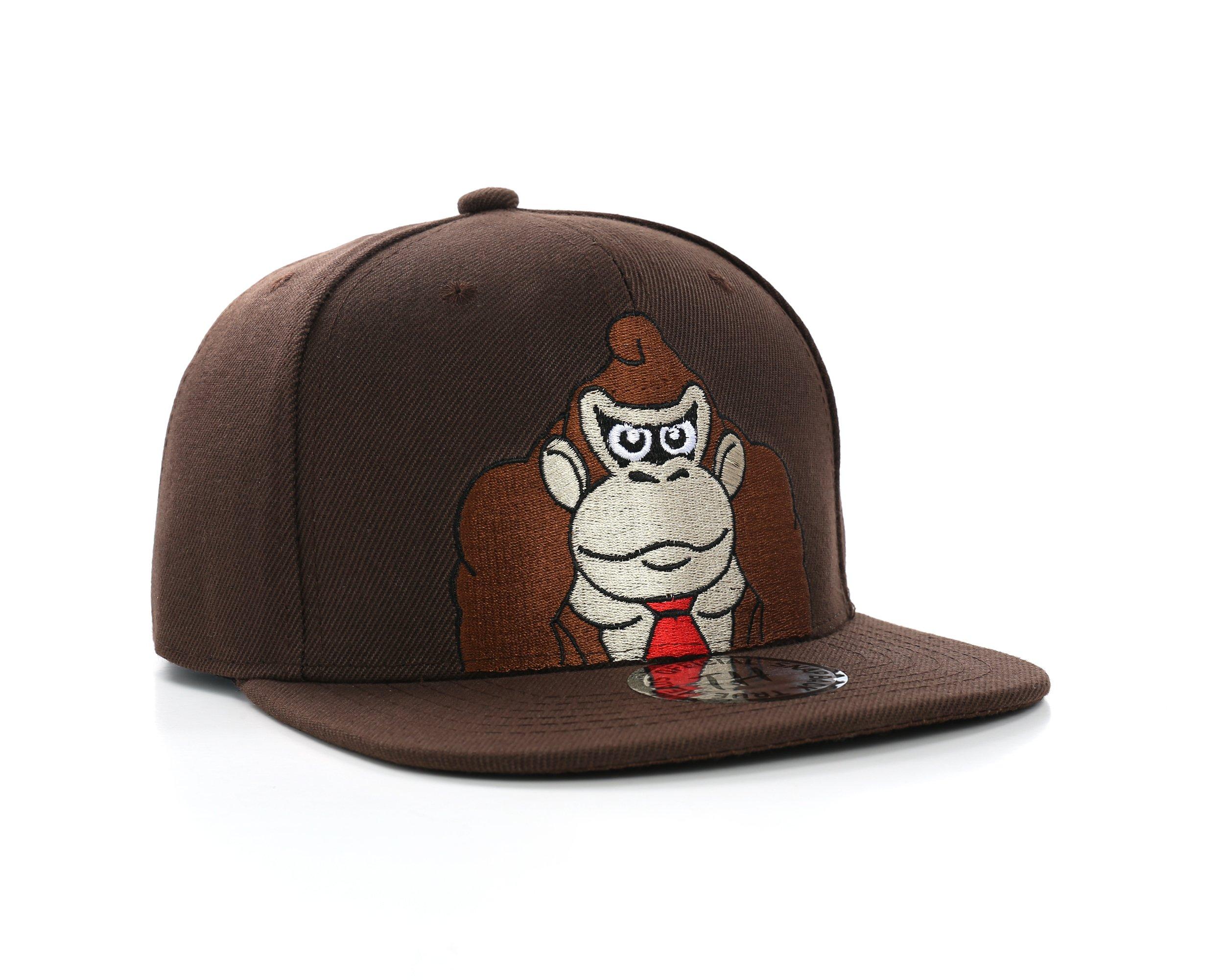 Donkey Kong Cap Donkey Kong Snapback Brown