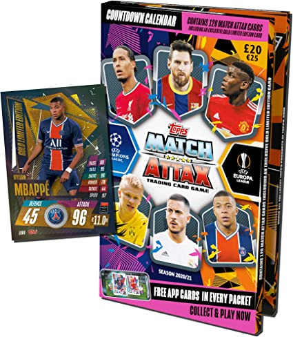 Topps Match Attax 2020/2021 Calendrier de l'Avent Football 2020
