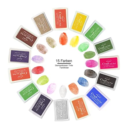 Stamp Ink Pad 15 Colours Youl