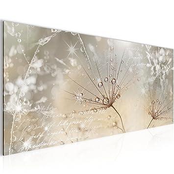 Bilder Blumen Pusteblume Wandbild 100 x 40 cm Vlies - Leinwand Bild ...