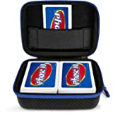 DOUBI Hard Case for Phase 10 Card Game - Fits Up to 400 Cards, Including 1x Removable Divider,1x Carabiner