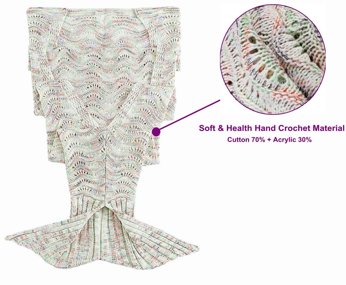 Netchain Manta de Cola de Sirena niña niño Adulto Crochet Tejer ...