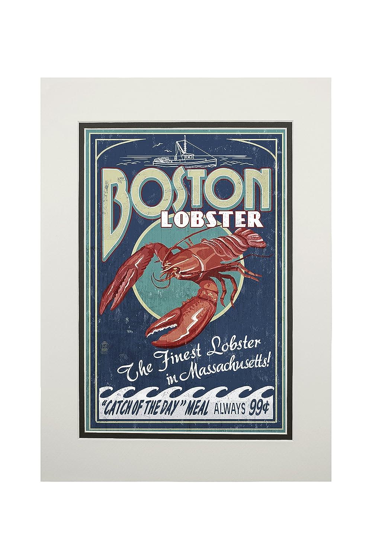 最適な価格 ボストン、マサチューセッツ州 – Art ロブスター ビンテージサイン LANT-40682-11x14M 11 x 14 8oz Matted Art Print LANT-40682-11x14M B074S21Z9M 8oz Coffee Bag 8oz Coffee Bag, サイクルショップ S-STAGE:ac3ef6df --- mcrisartesanato.com.br